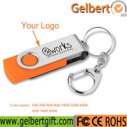 regalo de promoción de metal de colores de 1GB: giro de 64GB USB Flash Drive con libre Servicio de logotipos