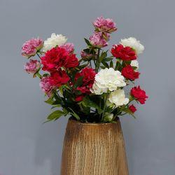 75cm Inicio Artificial decorativa Flor de primavera 5pcs jefes de la flor de seda para la decoración