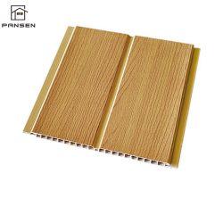 Conception en bois de marquage à chaud du panneau de plafond en PVC PVC