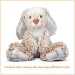 Het grappige Gevulde Dierlijke Zachte Stuk speelgoed van de Pluche van het Oor van het Konijn Lange