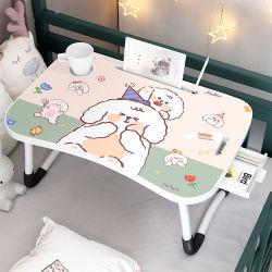 引出しが付いている現代子供のベッド表のポータブルコンピュータのラップトップの折りたたみのラップの机