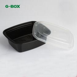 Rechthoekige Containers van de Opslag van het Voedsel van Microwaveable pp Plastic 828