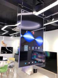 55 Inch pendaison recto-verso, boutique de la fenêtre de moniteur LCD Digital Signage, exposition présentoir, cadre photo électronique