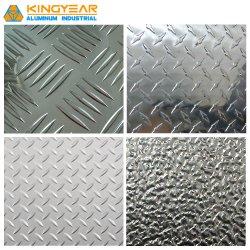 アルミニウムかアルミ合金の冷却装置か構築またはスリップ防止床(A1050 1060のための浮彫りにされたチェック模様の踏面シート1100 3003 3105 5052)
