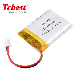 سعر جهة التصنيع 802540 600 مللي أمبير/ساعة IEC/MSDS معتمدة 3,7 فولت Lp802540 بطارية ليثيوم أيون قابلة لإعادة الشحن بطارية 802540 للبيع الساخن على البطارية المحمولة
