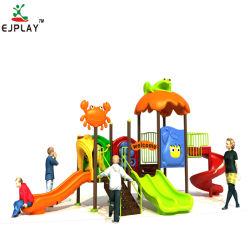 Professional Kids parque ao ar livre de plástico de equipamento de conjuntos de slides