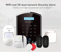 3G GSM WiFi het Slimme Systeem van het Alarm van de Indringer van de Veiligheid van het Huis met identiteitskaart van het Contact en de Vrije Detectors van het Contact van de Deur en Van de pir- Motie