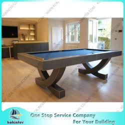Горячая продажа OEM индивидуальные цельной древесины бильярдный стол для игры с бесплатным аксессуары