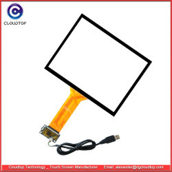 10,4-дюймовый промышленных прогнозируемых Емкостный сенсорный экран со стеклянными наложение на Pcap стекла датчика