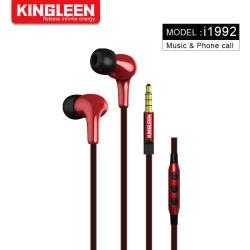 Mic Earbuds 최고 베이스 이어폰을%s 가진 이동 전화 3.5mm 헤드폰