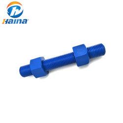 中国メーカー ASTM A193 ASTM A193 PTFE テフロン B7 ( 2h ナット付き)フルスレッドロッド / スタッドボルト