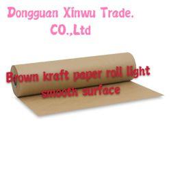 Rullo di carta di superficie regolare del Brown Kraft di colore chiaro piccolo da vendere