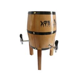 Dispensador de Cerveza de barril de madera Torre whiskey cerveza, jugos de frutas con tres grifos
