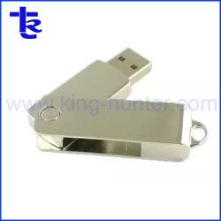 Commerce de gros des Memory Sticks Steel Metal disque Flash USB pivotant