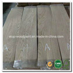 Pisos en rodajas láminas Chapa de madera de roble blanco americano del Norte para la ingeniería de suelos de madera