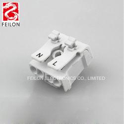 Venda Direta de fábrica 923-2 Empurre o bloco de terminais de tipo 2 lâmpada de luz LED de aperto roscados de Posição rápida do dispositivo de Bloco de Terminal da Fiação do Conector do Fio 1 em 3