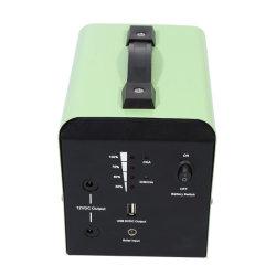 نظام الطاقة الشمسية المحمول بجهد 12 فولت وقدرة 12 أمبير بقوة 20 واط مع ضوء LED بقوة 5 واط USB وبجهد 12 فولت تيار مستمر