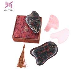 Matériau de Jade naturel Massage facial Pierre Guasha Gua Shatool