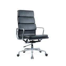 Vinil executivo PU Leather Cadeira de escritório alta contrapressão pessoal cadeira ajustável para o Prédio de Escritórios, escola, hospital, Preto