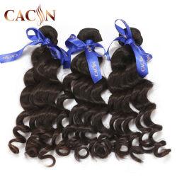 Commerce de gros de la nature vierge de la cuticule d'onde Remy brésilien de cheveux humains