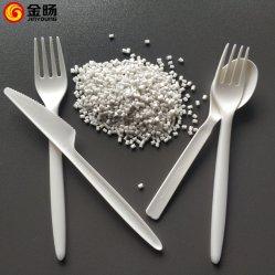 2019 Nouveau produit 100% Bioplasti Cpla plastique pour la coutellerie jetable cuillère de fourche