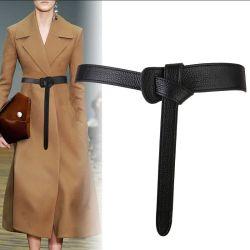 حزام أزياء فاخر للنساء تصميم قوس أسود