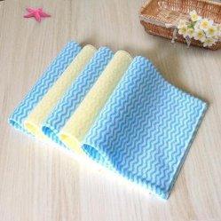 Wipes non tessuti quadrati della cucina di Spunlace del panno di pulizia della maglia del reticolo 22
