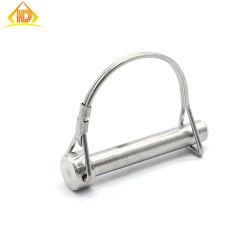 Precison Ficha alta redondo pasadores de bloqueo de PIN con anilla de acero inoxidable