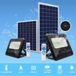 60W SMD 보안 조광 배터리 백업 비상 램프 IP65 실외 조명 태양광 동력 LED 투광 조명