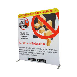 Custom 8FT 10FT 20FT Advertising Portable Aluminium Trade Show Display Tentoonstelling Straight Display of gebogen PVC Tension Fabric Display (JMCB)