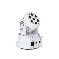 مصابيح الليزر ضوء LED الظاهري 6 حزم بيانات 8 واط+1 PCS*80 ميجاواط ضوء رأس متحرك شعاع الليزر الأخضر