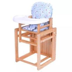 Alimentación de Niños Food-Grade bebé plegable de madera silla con ruedas robusto y de la placa de plástico
