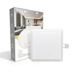 IP44 사각 매입형 램프 실내 조명 리모컨 SMD2835 조정식 CCT 18와트 프레임리스 LED 조명 패널(호텔