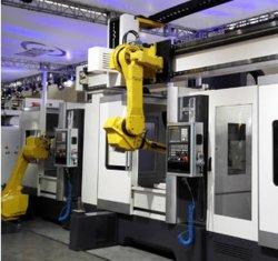 6 de Robot van de Industrie van de as voor CNC de Lading van de Draaibank, Booglassen, Knipsel, het Stempelen, het Oppoetsen, het Bespuiten en het Met een laag bedekken, het Lijmen en het Malen