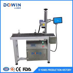 金属の鋼鉄アルミニウム管の生産ライン印刷のための飛行光ファイバレーザーのマーキング機械