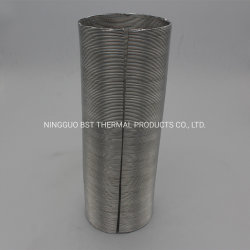 Bouclier thermique de l'isolation thermique en fibre de verre gaine ondulé aluminé