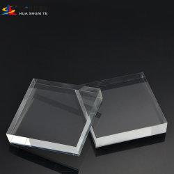 Strato di cristallo del cristallo 6mm di abitudine delle tabelle 60mm LED 2mm di Huashuaite dello strato del perspex A4 di plastica libera