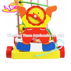 Cordões de madeira coloridos de Puxar carro de brincar, cordões de madeira para as crianças, cordões de qualidade superior em brinquedos para crianças de carro puxar W05C135
