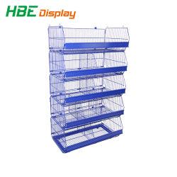 Supermarkt Display Toys Rag Doll opslagstandaard Wire Dump Bin