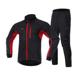 Winddicht waterdichte ademende Fleece gevoerde Fietsen Biking Sportswear Sets voor heren