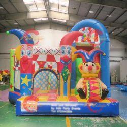 5x5m Circus Clown의 탄력 있는 보디가드기/아이들이 부글거리는 성 콤보