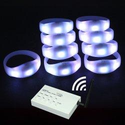La RFID enciende/Pulsera Brazalete LED DMX Control remoto