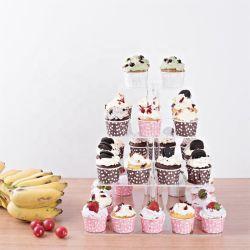 Snel Verscheept Factory Custom Led Advertising Acryl Candy Display Rekken Cake Cake Holder Acrylic Display