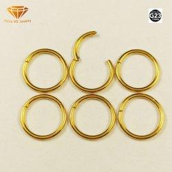 DURCHDRINGEN IP-Goldwekzeugspritzen-Ring Tp1912g des Form-Schmucksache-Grad-23 fester Titan