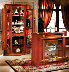 Diseño de lujo Bar mesa lateral con vino de mesa mesa armario