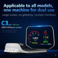 Wiiyii C3 universale per tutte le auto HUD navigazione Bluetooth OBD2 HUD GPS Head-up Display