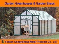 Sistema idroponico agricolo di grandi dimensioni materiali da costruzione in alluminio e policarbonato Green House per Garden Flower uso Rdgs0810-6mm