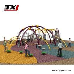 Детские деревянные площадки на открытом воздухе Аттракционы оборудование помещений