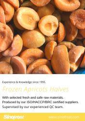 IQFの杏子の半分、フリーズされた杏子の半分、IQFの杏子は、フリーズされた杏子さいの目に切る、IQFによってさいの目に切られる杏子、皮が付いているまたは皮のないフリーズされたさいの目に切られた杏子、さいの目に切る