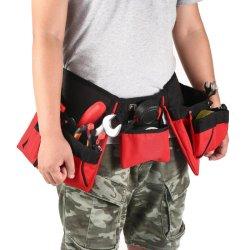 防水ポリエステル布のハードウェアの電気技術者のウエストの道具袋ベルト